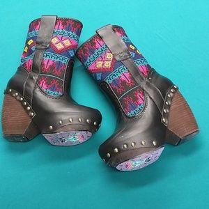 Irregular Choice Mandarin chunky boots sz 7